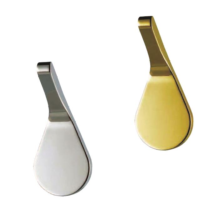 アンティーク コートフック しずく 真鍮(鏡面シルバー・鏡面ゴールド)画像