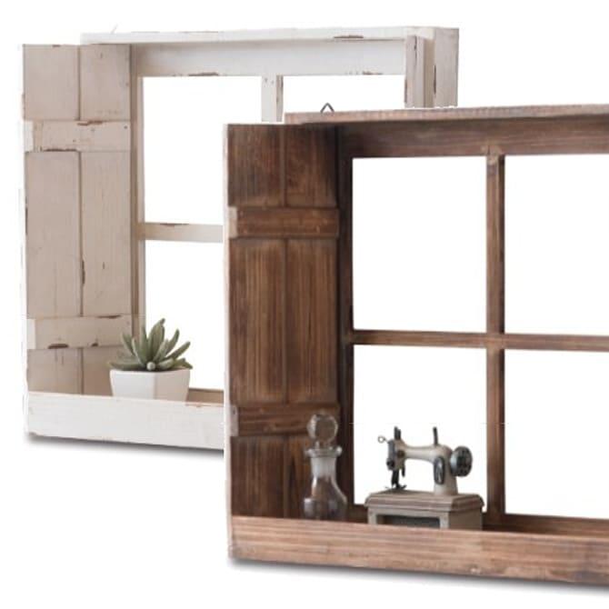 アンティーク窓 飾り棚 壁面ディスプレー(壁掛け・置き式)画像