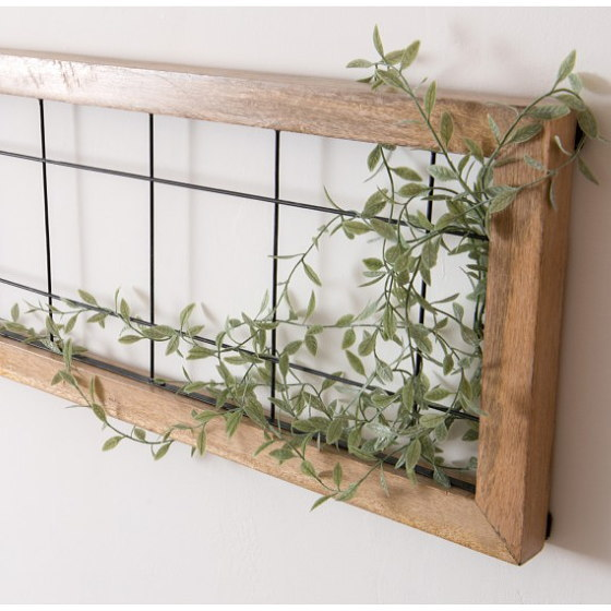 アイアンワイヤー 木製カントリー面格子画像