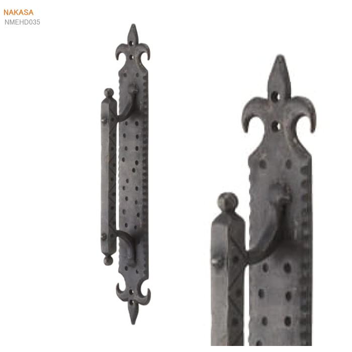 アンティーク取手 真鍮(アンティークブラック)扉金具 取っ手 把手 ドアハンドル ヒンジ扉 画像