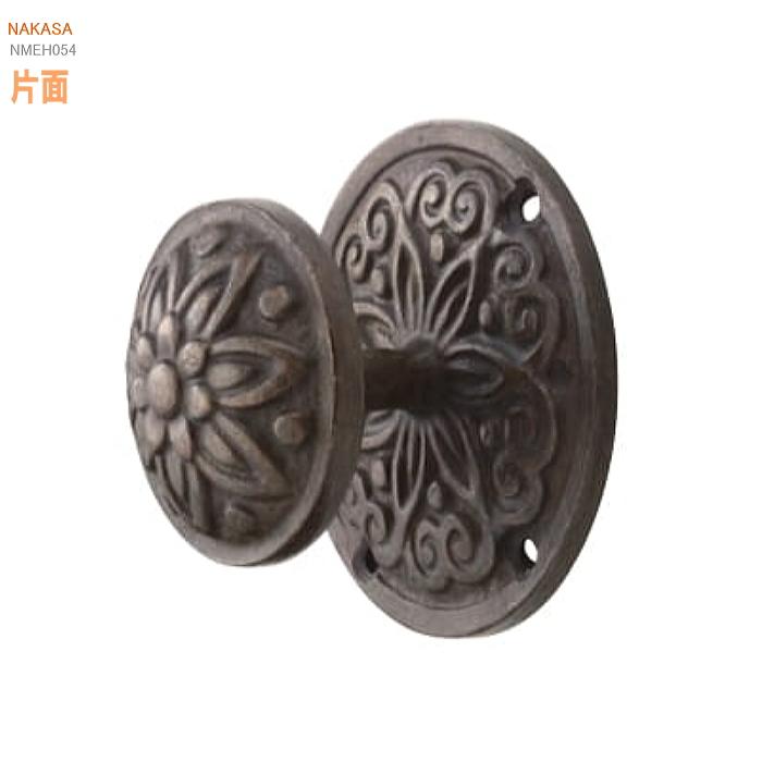 アンティーク片面ドアノブ 真鍮(アンティークブラック)扉金具 取っ手 把手 ドアハンドル ヒンジ扉画像
