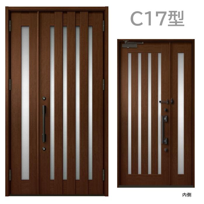 玄関ドア C17型 プレナスX 片開き・親子ドア・片袖・両袖・親子入隅画像