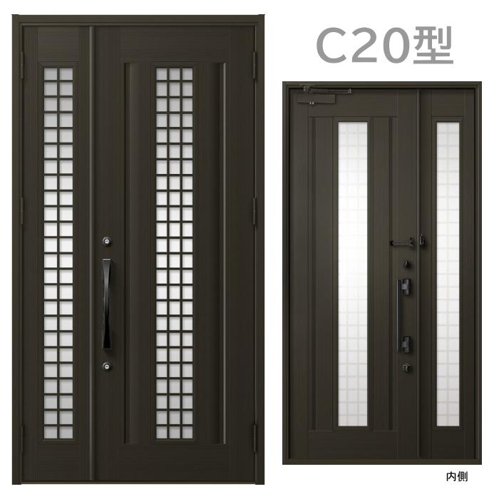玄関ドア C20型 プレナスX 片開き・親子ドア・片袖・両袖・親子入隅画像