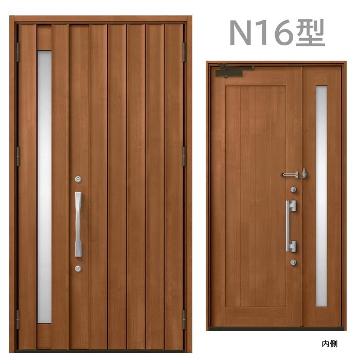 玄関ドア N16型 プレナスX 片開き・親子ドア・片袖・両袖・親子入隅画像