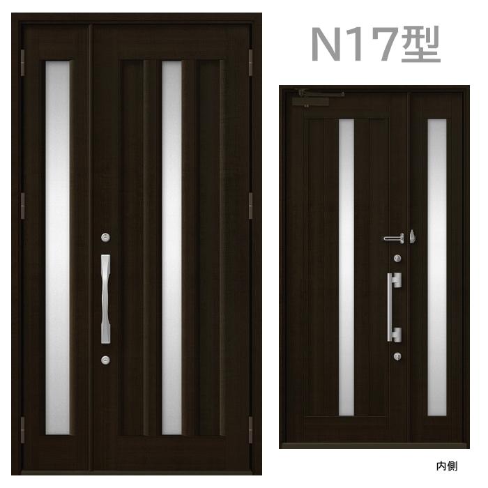 玄関ドア N17型 プレナスX 片開き・親子ドア・片袖・両袖・親子入隅画像