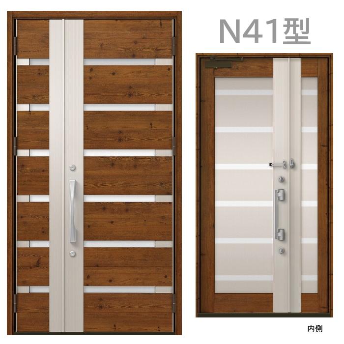 玄関ドア N41型 プレナスX 片開き・親子ドア・片袖・両袖・親子入隅画像