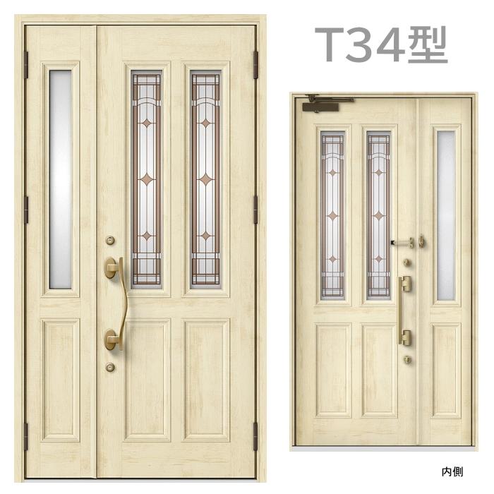 玄関ドア T34型 プレナスX 片開き・親子ドア・片袖・両袖・親子入隅画像