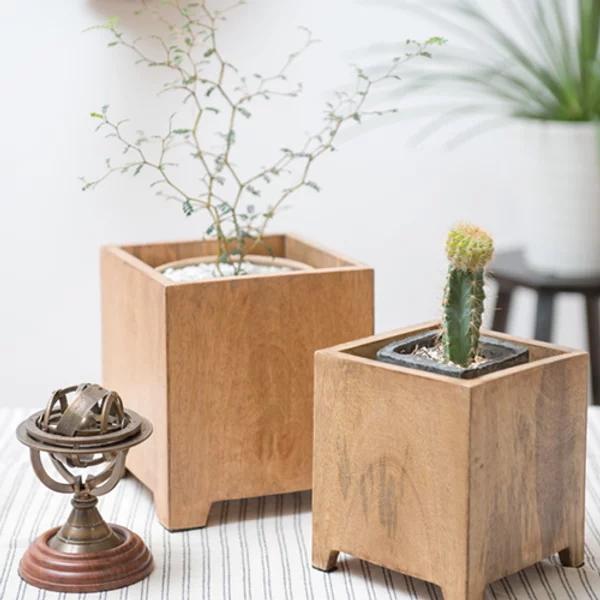 植木鉢カバー ウッドポットカバー (3号・4号・5号用) 画像