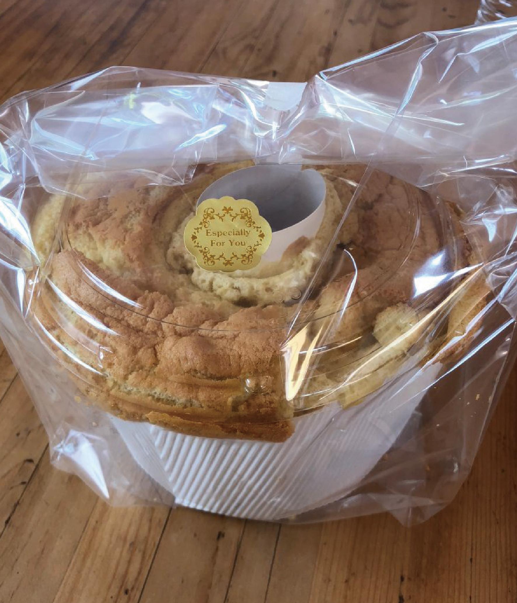 シフォンケーキ(8人前)/自然栽培の餌 ウコッケイ有精卵使用/自然栽培 古代小麦使用画像