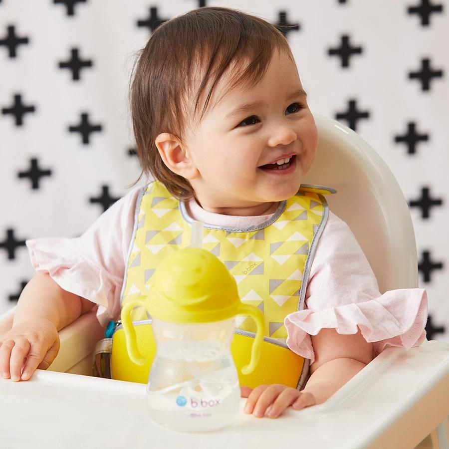 洗濯機で洗える!赤ちゃん用お食事用ビブ+スプーンセット☆オーストラリア発ベビー用品「ビーボックス」ご出産祝いにも☆画像