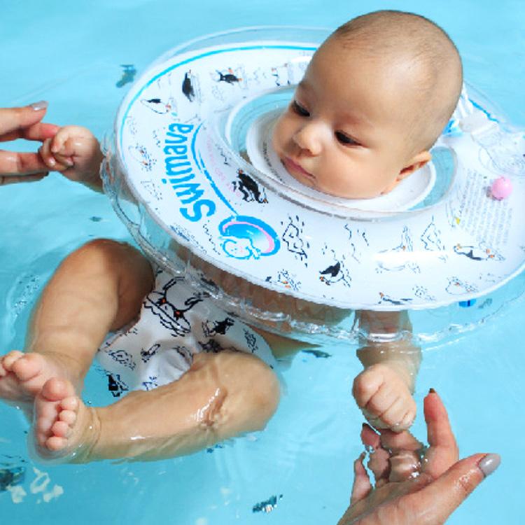 ご出産祝い・お誕生日プレゼントに!赤ちゃん用首浮き輪「スイマーバ」ベビー用品ペンギン画像