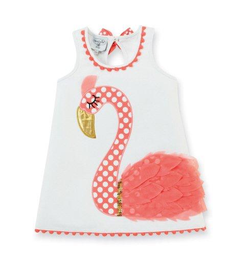 大幅値下げ!SALEアメリカベビー服ブランド「マッドパイ」フラミンゴワンピースベビー服 出産祝いに!の画像