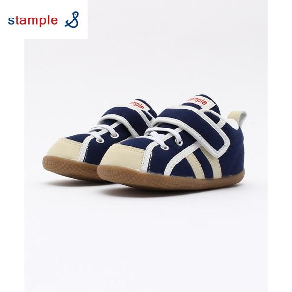 日本発ベビー用品・子ども用品ブランド「スタンプル」ベビー用シューズ/子ども用スニーカー(ネイビー)の画像