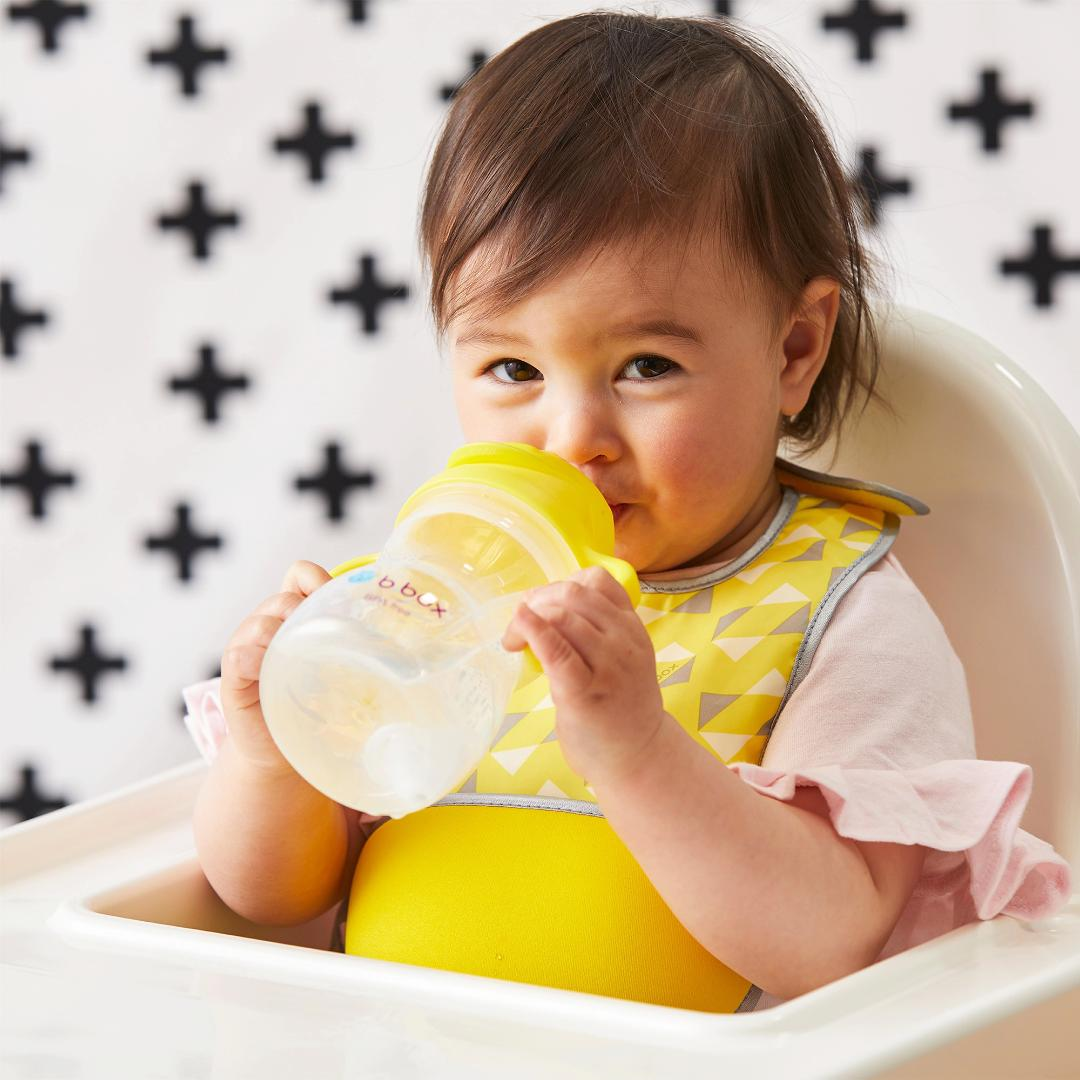 オーストラリア発ベビー用品ブランド「b.boxビーボックス」シッピーカップ重り付きストローボトル ご出産祝いにも!レモン画像
