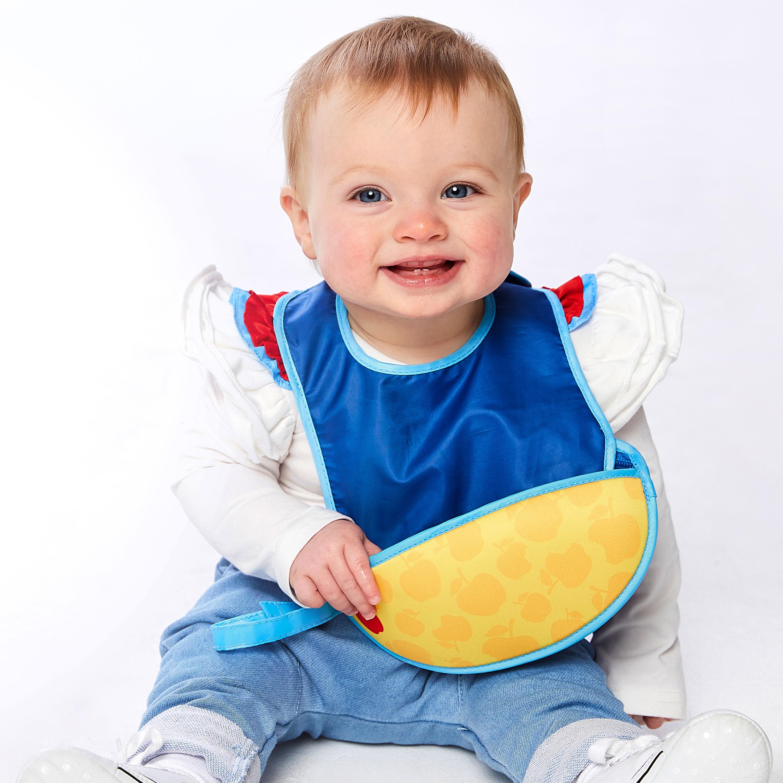 ご出産祝いに!ディズニー・ビーボックスコラボベビー用品洗濯機で洗える赤ちゃん用お食事用ビブ+スプーンセットインポートベビー用品(白雪姫)画像