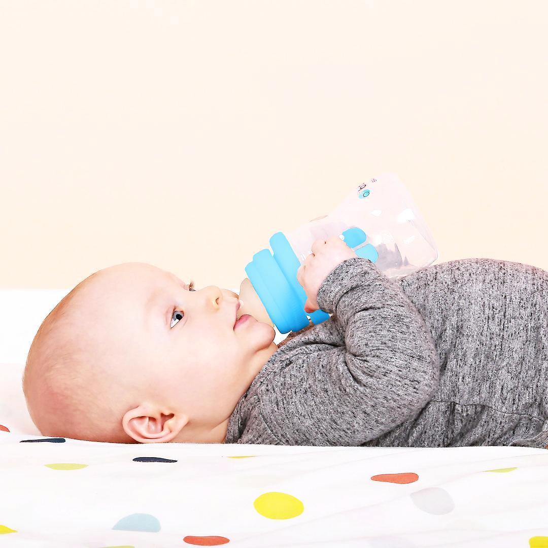 b.boxビーボックスギフトセットご出産祝いにおすすめ!哺乳瓶からコップ飲みの練習まで!お得なステップアップセット2色(ピンク・ブルー)画像