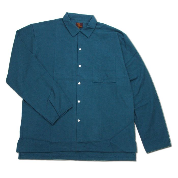 Phatee - CAMP COLLAR SHIRTS / ASH BLUE画像