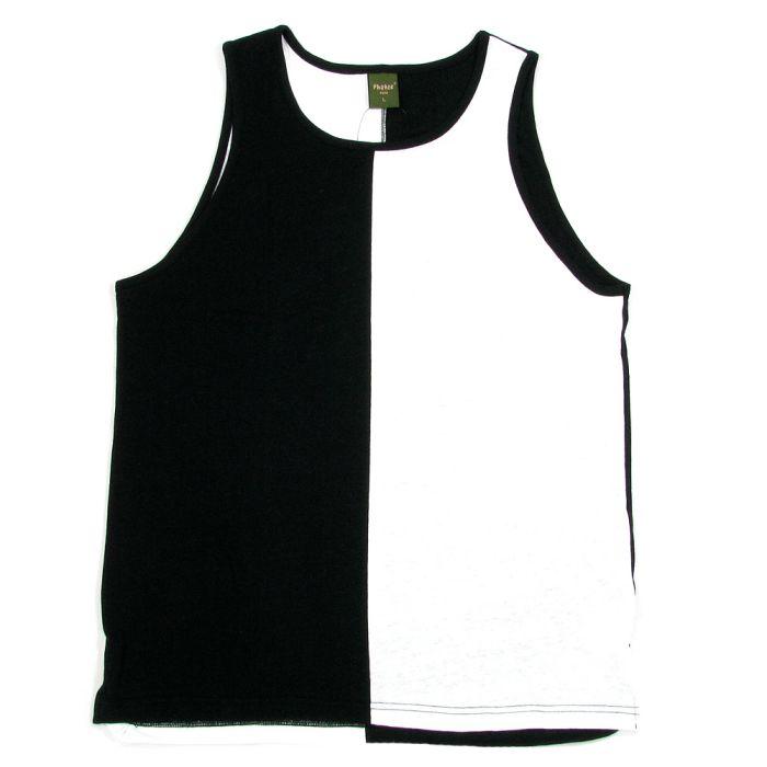 Phatee - HEALTHY TANK TOP 2TONE / WHITE x BLACK画像