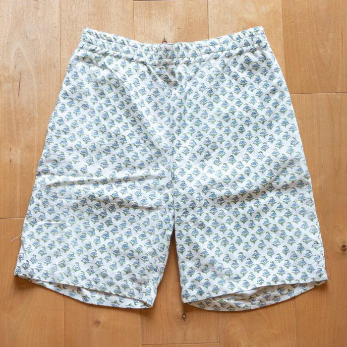 Phatee LABORATORY - SNUG SHORTS INDIA / BLUE FLOWER (SAMPLE)の画像