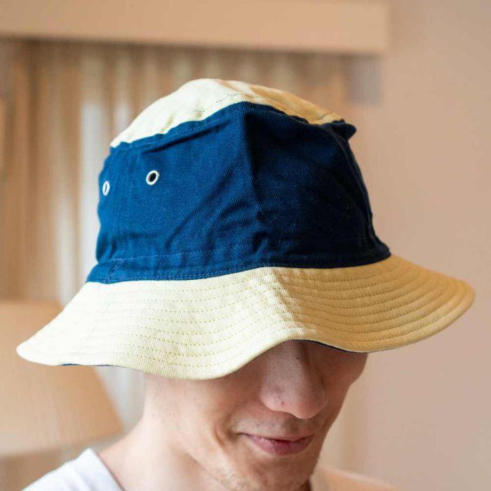 Phatee LABORATORY - BUCKET HAT / YELLOW/NAVY (SAMPLE)の画像