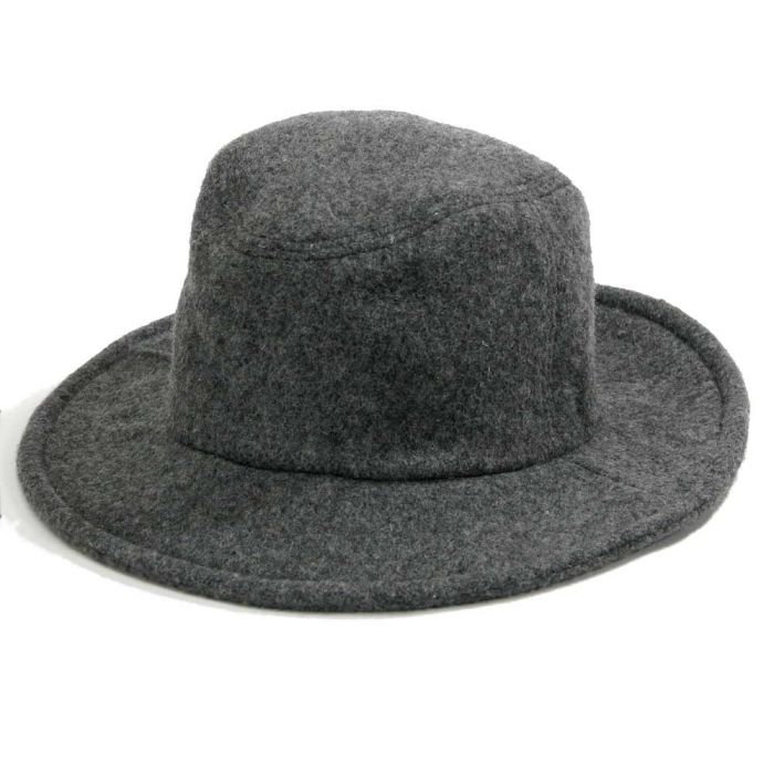 Phatee - TRAVEL HAT RECYCLE WOOL / GREY WOOLの画像