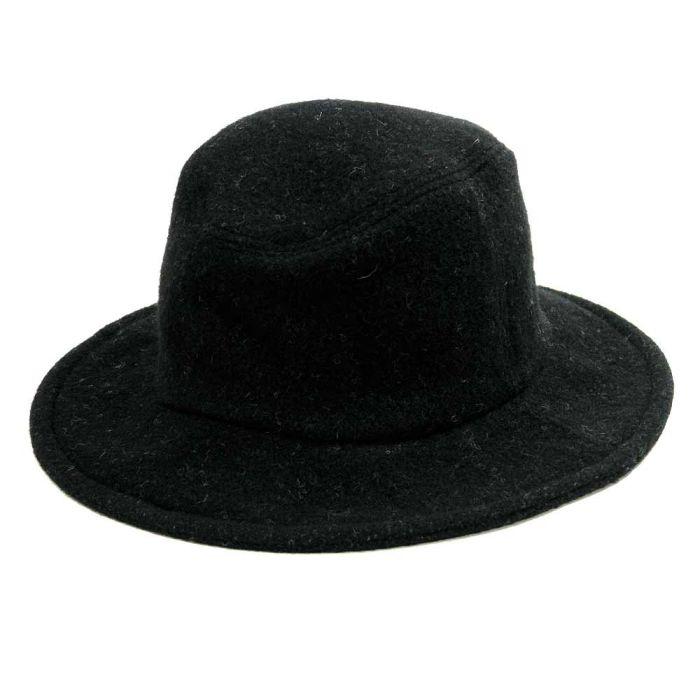 Phatee - TRAVEL HAT RECYCLE WOOL / BLACK WOOL画像