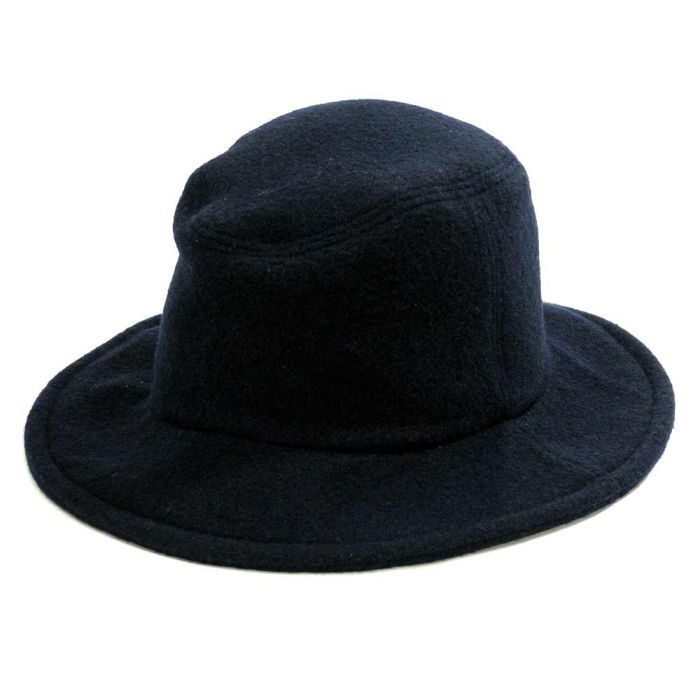 Phatee - TRAVEL HAT RECYCLE WOOL / NAVY WOOL画像