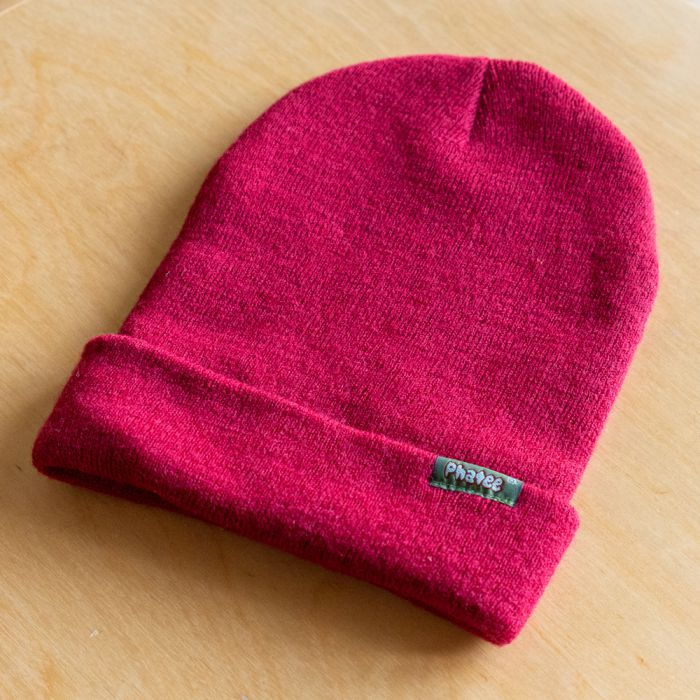 Phatee LABORATORY - KNIT CAP LOGO / RED (SAMPLE)の画像