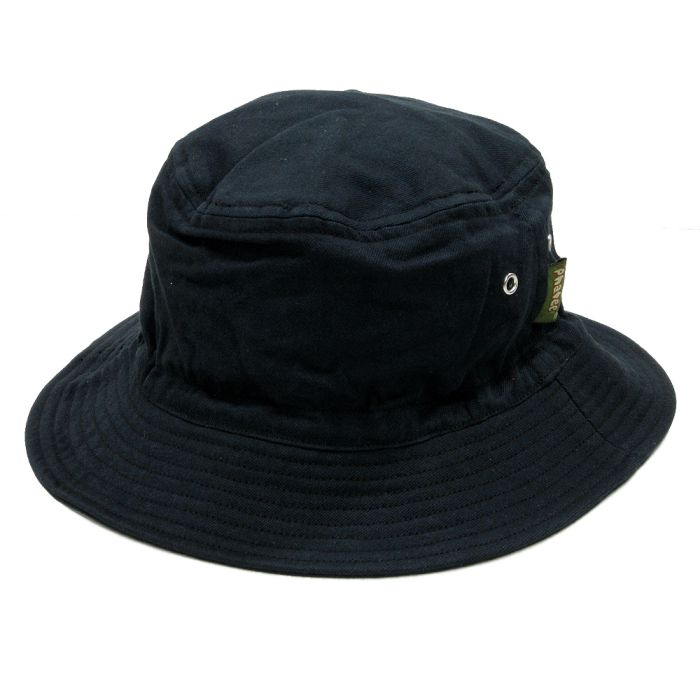 Phatee - BUCKET HAT / BLACK TWILL画像