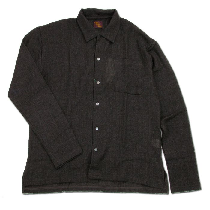 Phatee - WIDE BOX SHIRTS / D BROWN画像