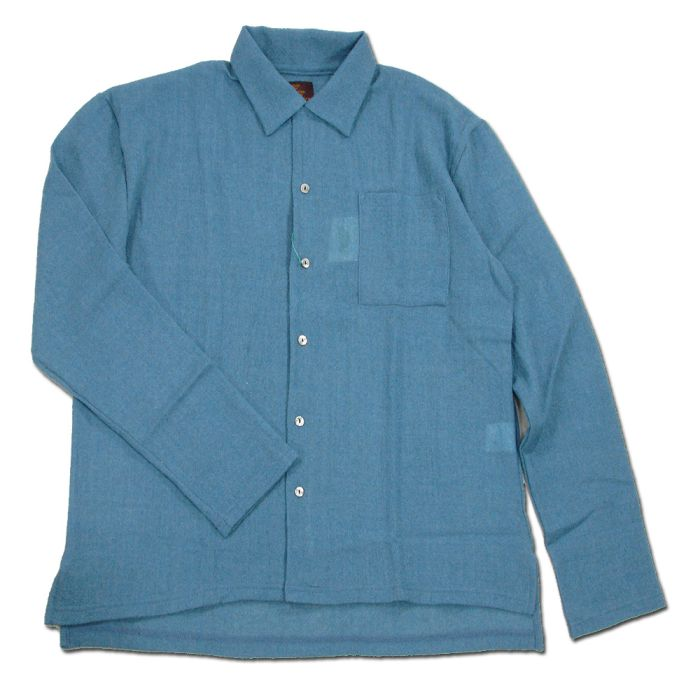 Phatee - WIDE BOX SHIRTS / SAX画像