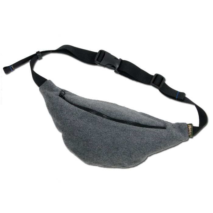 Phatee - FLEECE WAIST BAG / CHACOAL画像