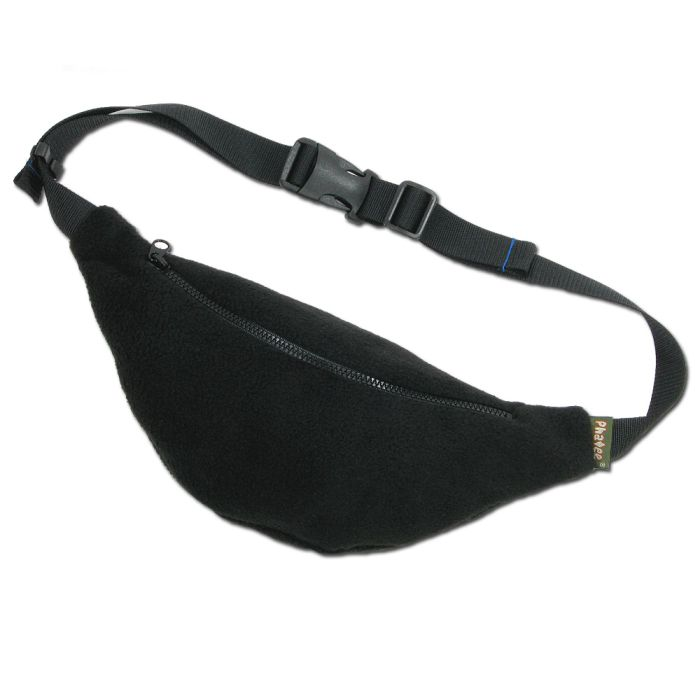 Phatee - FLEECE WAIST BAG / BLACK画像
