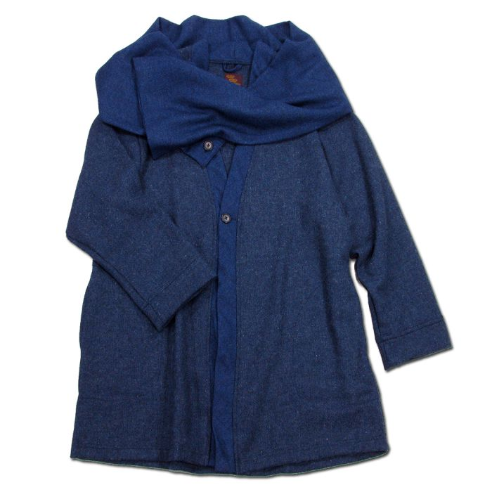 Phatee - HAPPI JACKET WOOL / D.BLUEの画像