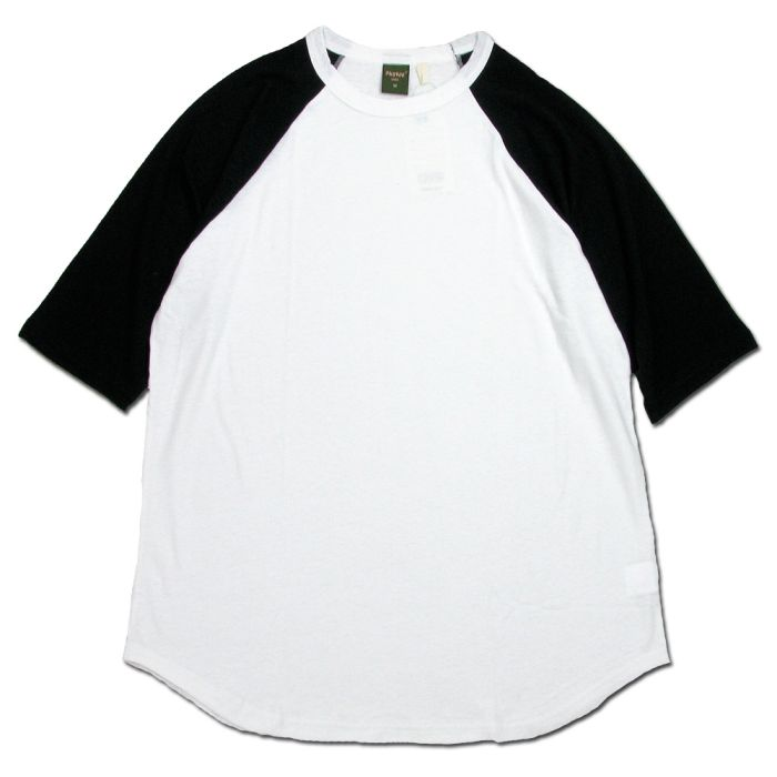 Phatee - LOOSE BALL TEE / WHITE x BLACK画像