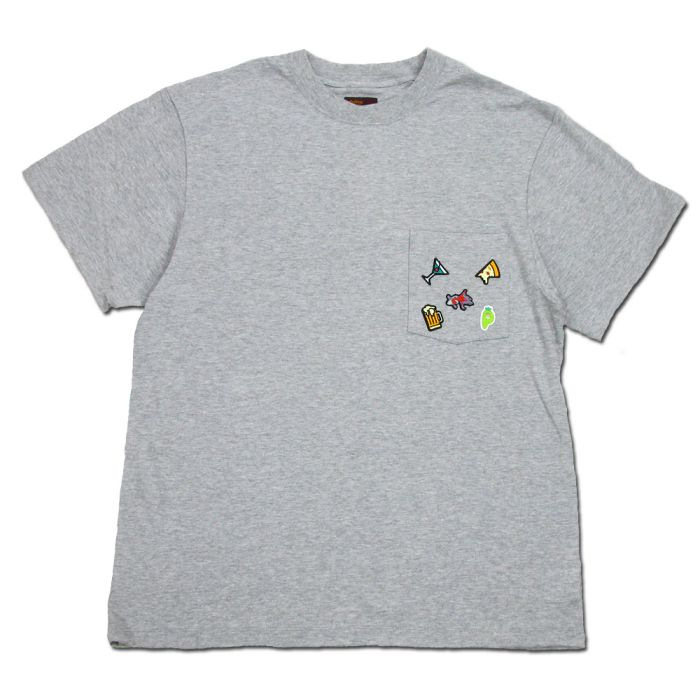 Phatee - 5 PATCHES POCKET TEE / GREYの画像
