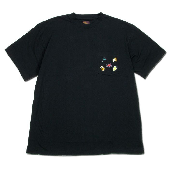 Phatee - 5 PATCHES POCKET TEE / BLACK画像