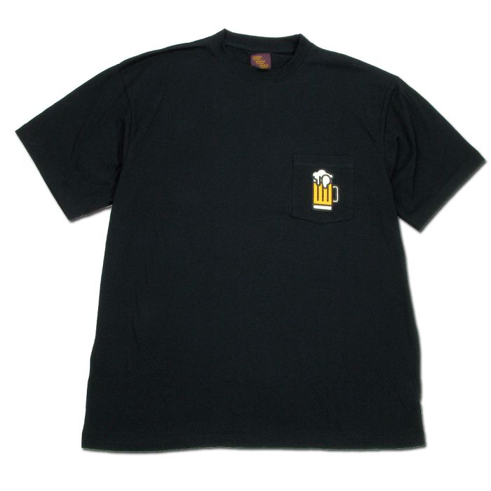 Phatee - BEER POCKET TEE / BLACKの画像