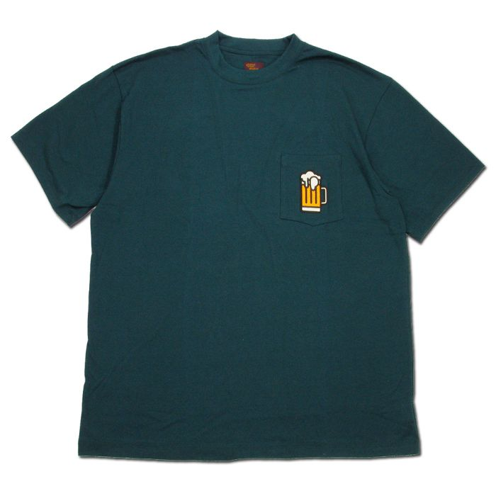 Phatee - BEER POCKET TEE / GREENの画像