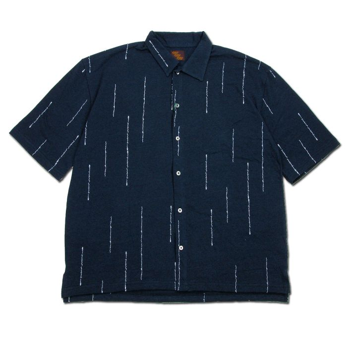 Phatee - WIDE SOFT SHIRTS HEMP / WORD NAVYの画像
