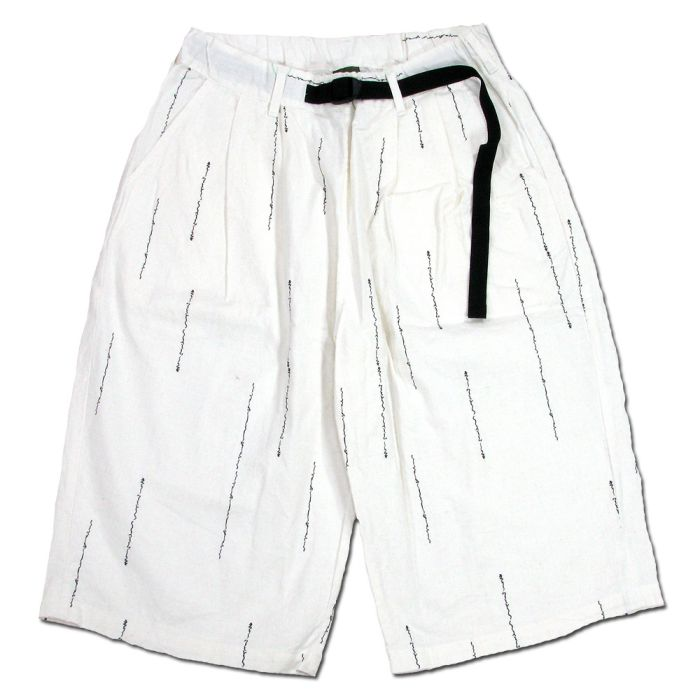 Phatee - CHINO VENUE SHORTS / WORD WHITEの画像