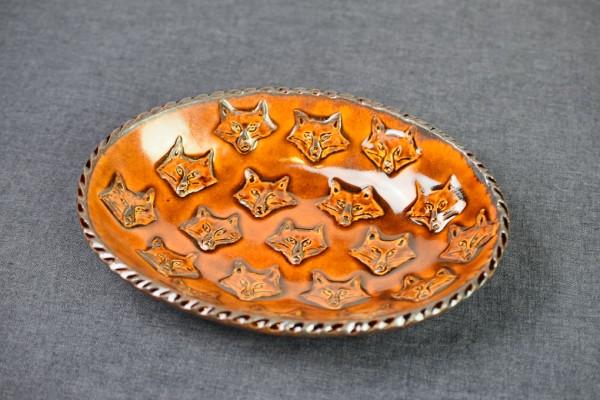 キツネのグラタン・カレー皿 M(野村亜土)画像