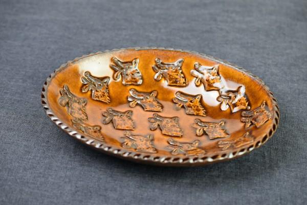 オオカミのグラタン・カレー皿 M(野村亜土)画像