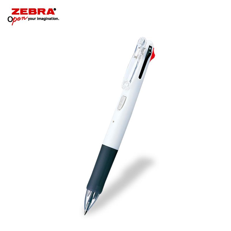 ゼブラ クリップオンG 4C 白軸 4色ボールペン フルカラー印刷画像