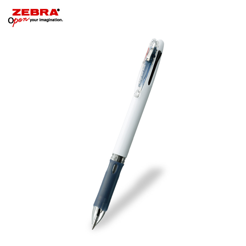ゼブラ クリップオンスリム3C 白軸 3色ボールペン フルカラー印刷画像