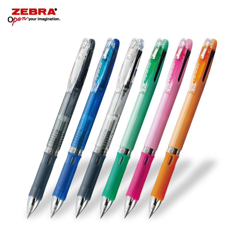 ゼブラ クリップオンスリム3C 3色ボールペン フルカラー印刷画像