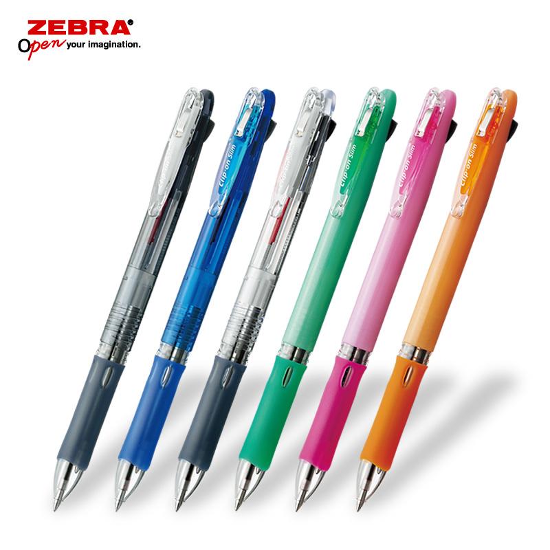 ゼブラ クリップオンスリム2C 2色ボールペン フルカラー印刷の画像