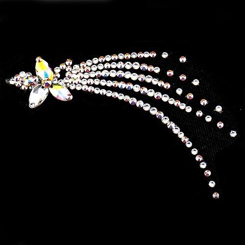 スワロフスキー製ラインストーン使用ヘアーモチーフ 流星70画像