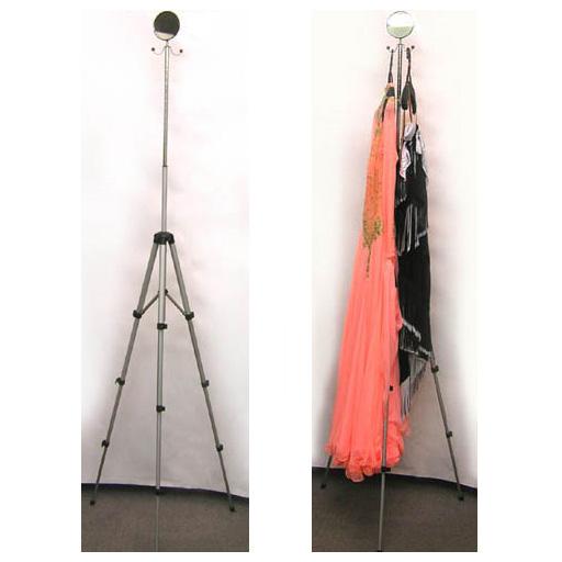 携帯用ドレススタンド(折りたたみ可能)軽量・持ち運びに便利、競技会のドレスや燕尾服に画像