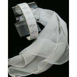 ラインストーン付きスカーフチョーカー(ベージュ・黄・黒)06AB画像